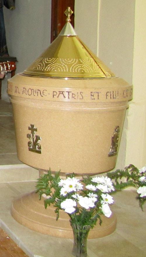 Nueva pila bautismal de Masegosa.