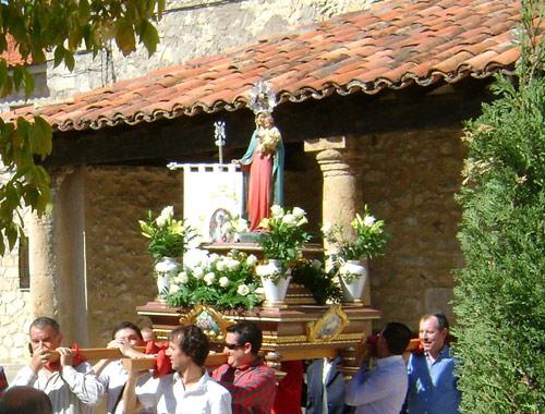 Virgen del Rosario. Primera imagen.