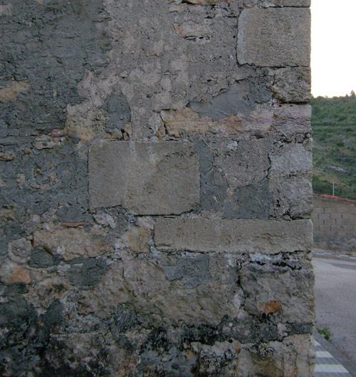 Fachada oeste de la capilla de los Rihuete.