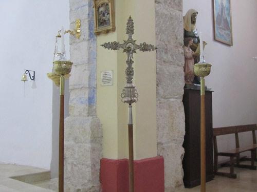 A la derecha, jambas del arco de medio punto de la capilla de La Concebida, o de los Rihuete.