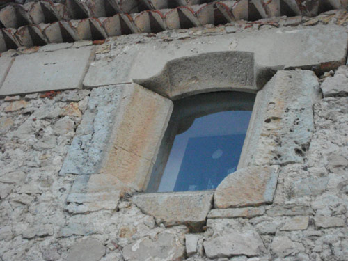 Reutilización de ventanal en la capilla de La Concebida, o de los Rihuete.