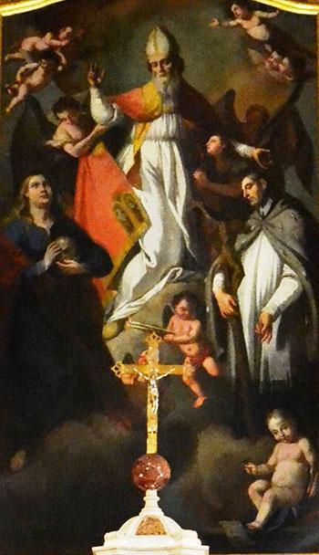 San Blas con María Magdalena y San Juan Nepomuceno. Valentino Rovisi. 1780.